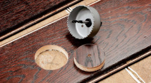 Как сделать круглое отверстие в дереве