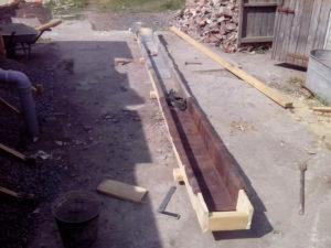 Лоток для бетона своими руками