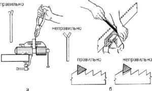 Как правильно заточить ручную пилу по дереву