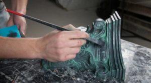 Как нанести патину на металл