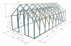 Конструкция теплицы из поликарбоната на металлическом каркасе