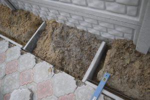 Установка бордюра для тротуарной плитки своими руками