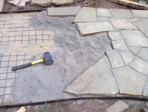 Укладка песчаника своими руками