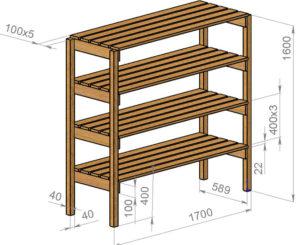 Как сделать деревянный стеллаж своими руками