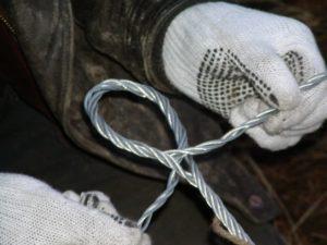 Как вязать трос металлический