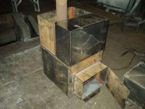 Самодельная банная печь из металла своими руками