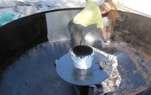 Гидроизоляция металлических емкостей изнутри
