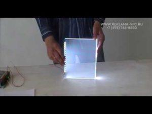 Подсветка оргстекла светодиодами своими руками