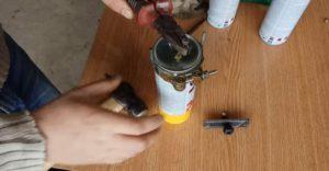 Как заправить краску в баллончик своими руками