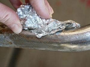 Снятие хрома с металла