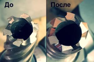 Заточка корончатых сверл по металлу