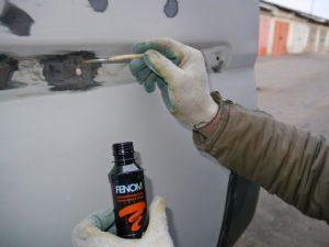 Обработка металла ортофосфорной кислотой перед покраской