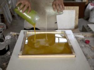 Жидкий мрамор своими руками