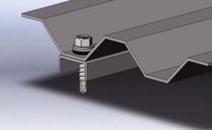 Крепление профлиста к металлическим прогонам