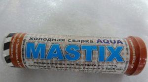 Мастикс холодная сварка инструкция