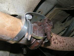 Как отремонтировать глушитель без сварки