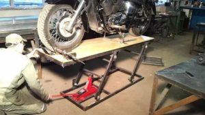 Подъемник для мотоцикла своими руками