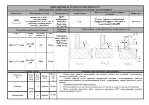 Техкарта на сварку металлоконструкций