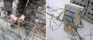 Прогрев бетона сварочным инвертором