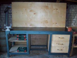 Стол верстак для гаража своими руками