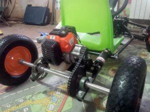 Детский квадроцикл своими руками из бензопилы