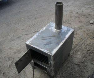 Печь металлическая своими руками