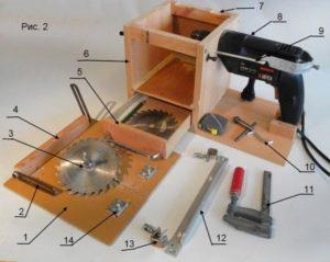 Как сделать мини циркулярку своими руками