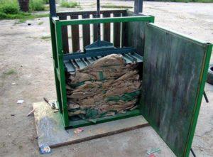 Пресс для мусора своими руками