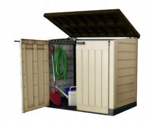 Металлический контейнер для хранения инструмента на даче