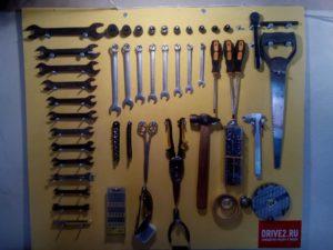 Стенд для инструментов настенный своими руками