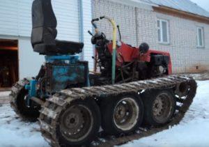 Мини гусеничный трактор своими руками