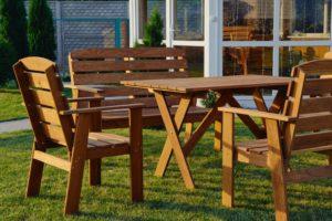 Производство садовой мебели из дерева