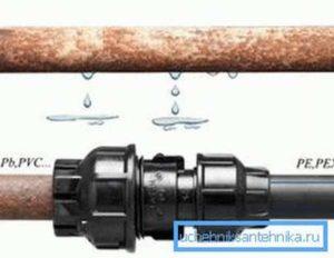 Как соединить пнд трубу со стальной