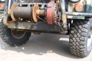 Механическая лебедка на УАЗ своими руками