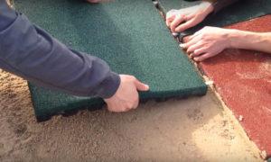Укладка резиновой плитки своими руками