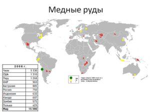 Страны лидеры по запасам медной руды