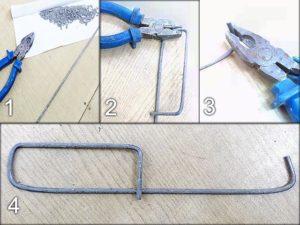 Крюк для вязки арматуры своими руками