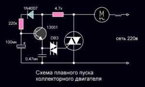 Плавный пуск коллекторного электродвигателя своими руками