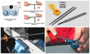 Как точить цепь на бензопилу своими руками