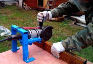 Приспособа для болгарки для резки металла