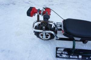 Детский снегоход на аккумуляторе своими руками