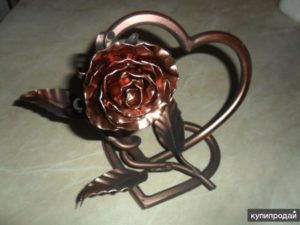 Как сделать розу из железа своими руками