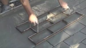 Как сделать штамп для бетона своими руками