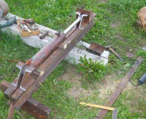 Механический дровокол своими руками подробности изготовления