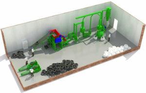Производство резиновой крошки из авторезины оборудование стоимость