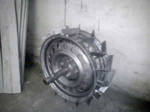 Металлические колеса для мотоблока своими руками
