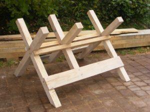 Сделать козла для распилки дров своими руками