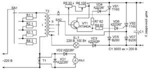 Регулировка сварочного тока по первичной обмотке
