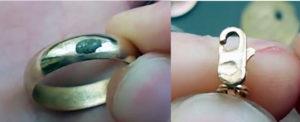 На каком металле йод белеет