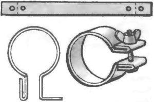 Как сделать хомут на трубу своими руками
